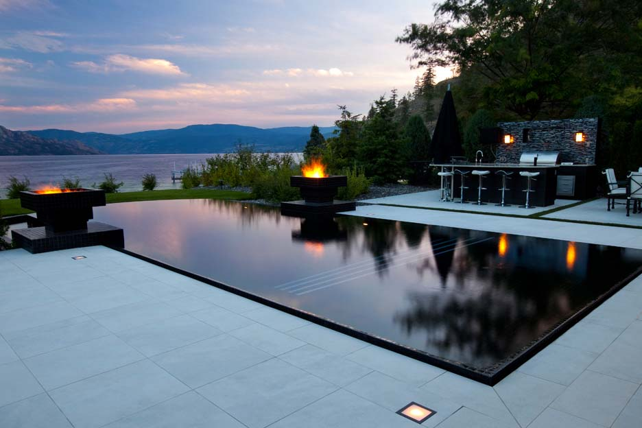 Owning your own pool pros and cons for the okanagan for Pool negative edge design